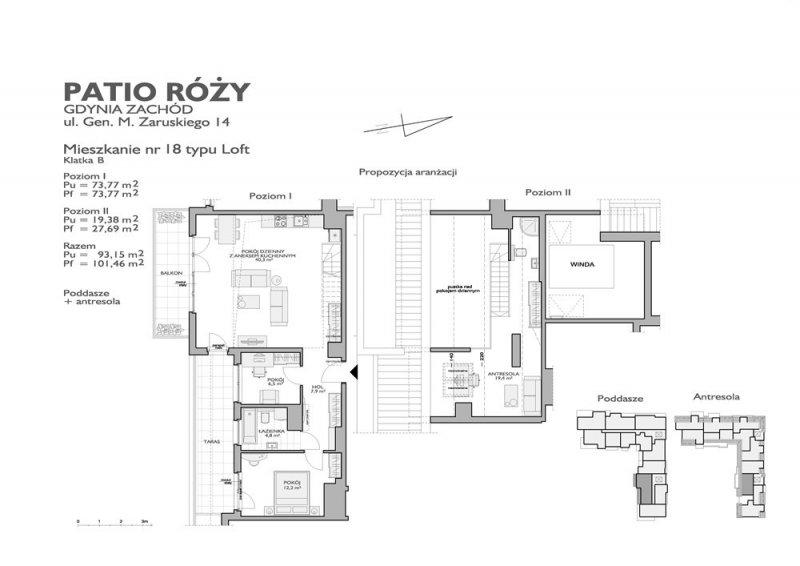 Karta lokalu Gdynia, ul. Gen. M. Zaruskiego nr 7B/18